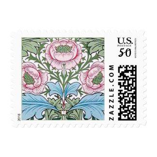 William Morris Myrtle Chintz Roses Postage Stamps
