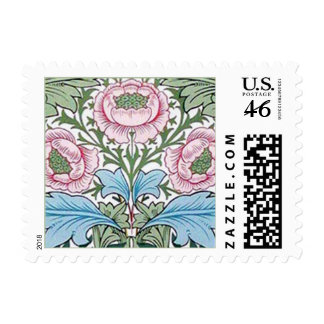 William Morris Myrtle Chintz Roses Postage Stamps