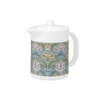 William Morris Myrtle Floral Chintz Pattern Teapot