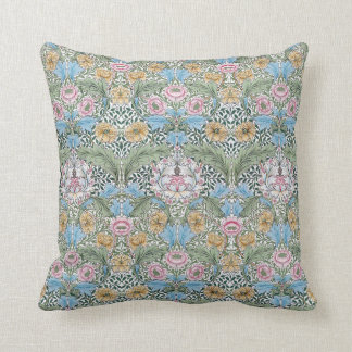 William Morris Myrtle Floral Pattern Throw Pillow