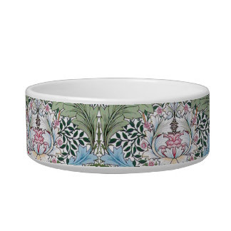 William Morris Myrtle Pattern Dog Cat Pet Bowl