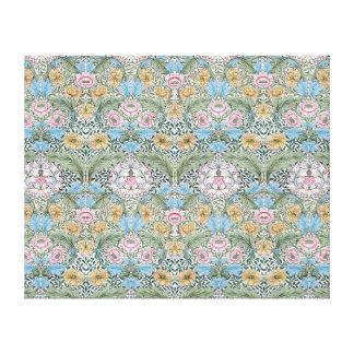 William Morris Myrtle Pattern Wrapped Canvas Stretched Canvas Prints