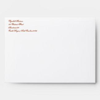 William Morris Orange Floral Envelopes