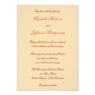 William Morris Orange Floral Wedding Invitation