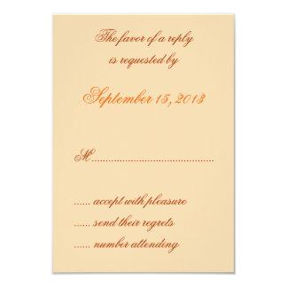 William Morris Orange Floral Wedding RSVP Cards