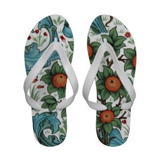 William Morris Orange orchard Flip-Flops