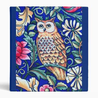 William Morris Owl Tapestry, Beige and Cobalt Blue Binder