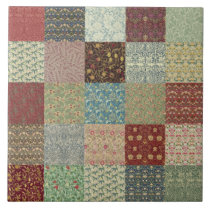 William Morris Patchwork Quilt Ceramics Ceramic Tile