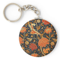 William Morris Pattern - Cray Keychain