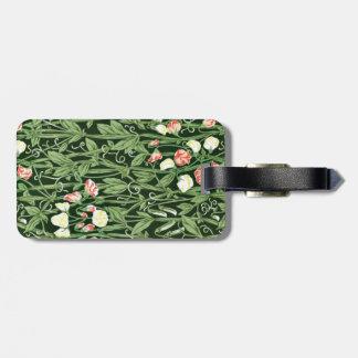 William Morris pattern, Sweetpea Luggage Tag