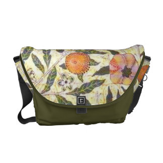 William Morris Peaches Wallpaper Pre Raphaelite Messenger Bag