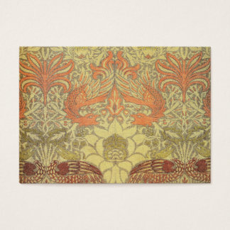 William Morris Peacock and Dragon Pattern Business Card