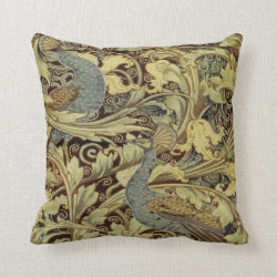 William Morris Peacock Throw Cushion