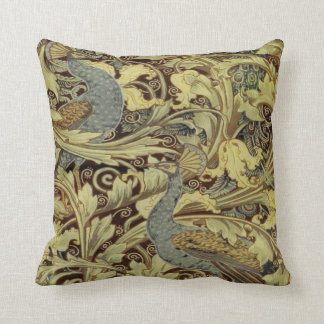 William Morris Peacock Throw Cushion Pillows