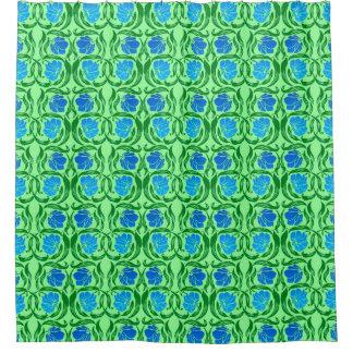 william morris pimpernel blue u0026amp lime green shower curtain