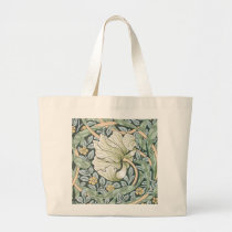 William Morris Pimpernel Floral Design Large Tote Bag
