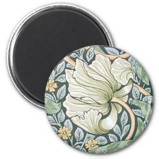 William Morris Pimpernel Floral Design 2 Inch Round Magnet