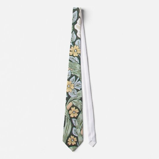 William Morris Pimpernel Floral Design Neck Tie