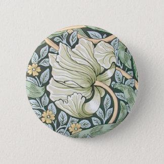 William Morris Pimpernel Floral Design Pinback Button