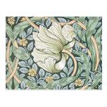 William Morris Pimpernel Floral Design Postcard