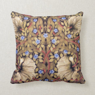 William Morris Pimpernel Vintage Floral Throw Pillow