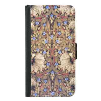 William Morris Pimpernel Vintage Floral Wallet Phone Case For Samsung Galaxy S5