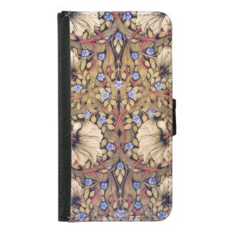 William Morris Pimpernel Vintage Floral Wallet Phone Case For Samsung Galaxy S5