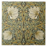 """William Morris Pimpernel Vintage Pre-Raphaelite Ceramic Tile<br><div class=""""desc"""">William Morris Pimpernel Floral Vintage Art Wallpaper Design William Morris was an English textile designer, artist, writer, and socialist associated with the Pre-Raphaelite Brotherhood and British Arts and Crafts Movement. He founded a design firm in partnership with the artist Edward Burne-Jones, and the poet and artist Dante Gabriel Rossetti which...</div>"""