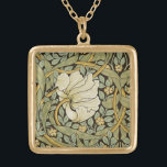 """William Morris Pimpernel Vintage Pre-Raphaelite Gold Plated Necklace<br><div class=""""desc"""">William Morris Pimpernel Floral Vintage Art Wallpaper Design William Morris was an English textile designer, artist, writer, and socialist associated with the Pre-Raphaelite Brotherhood and British Arts and Crafts Movement. He founded a design firm in partnership with the artist Edward Burne-Jones, and the poet and artist Dante Gabriel Rossetti which...</div>"""