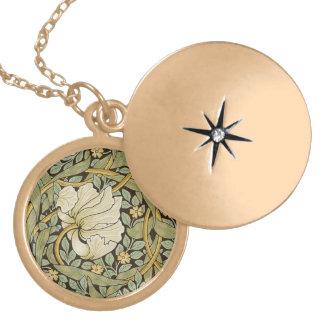 William Morris Pimpernel Vintage Pre-Raphaelite Locket Necklace