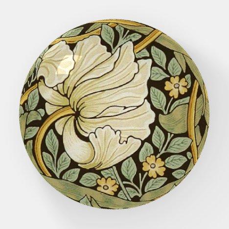 William Morris Pimpernel Vintage Pre-Raphaelite Paperweight