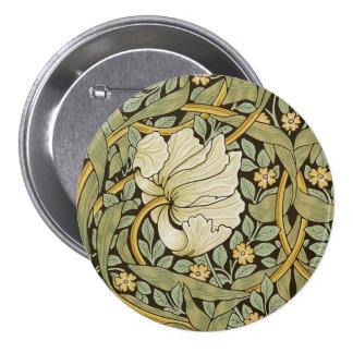 William Morris Pimpernel Vintage Pre-Raphaelite Pinback Button