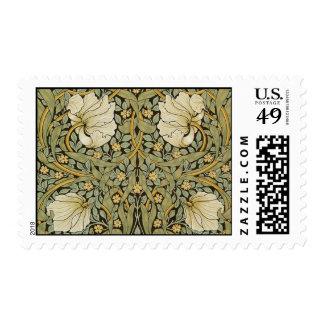 William Morris Pimpernel Vintage Pre-Raphaelite Stamp
