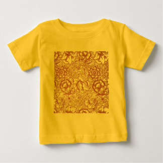 William Morris Pink and Poppy Textile Pattern Baby T-Shirt