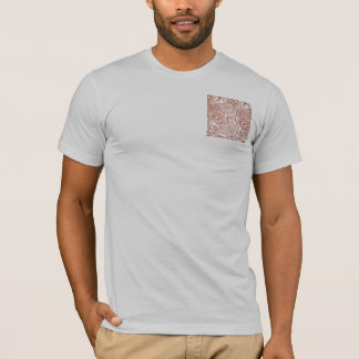 William Morris Pink and Poppy Textile Pattern T-Shirt