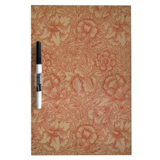 William Morris Pink Poppy Flower Pattern Dry-Erase Boards