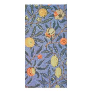 William Morris Pomegranate Floral Vintage Fine Art Card