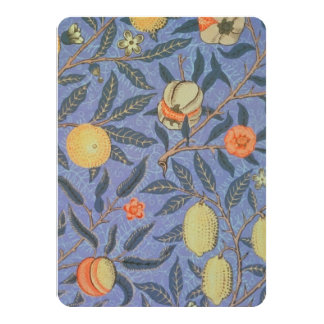 "William Morris Pomegranate Floral Vintage Fine Art 4.5"" X 6.25"" Invitation Card"