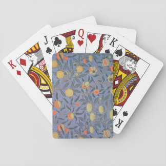William Morris Pomegranate Floral Vintage Fine Art Playing Cards