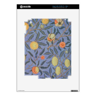 William Morris Pomegranate Floral Vintage Fine Art iPad 2 Skins