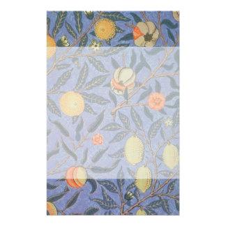 William Morris Pomegranate Floral Vintage Fine Art Stationery