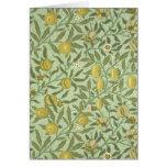 William Morris Pomegranate Fruit Design Greeting Card