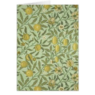William Morris Pomegranate Fruit Design Stationery Note Card
