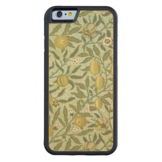 William Morris Pomegranate Fruit Design Carved Maple iPhone 6 Bumper Case