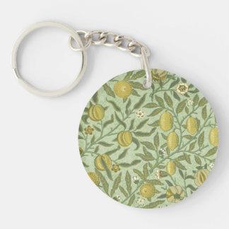 William Morris Pomegranate Fruit Design Keychain