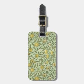 William Morris Pomegranate Fruit Design Bag Tag