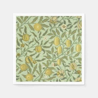 William Morris Pomegranate Fruit Design Paper Napkin