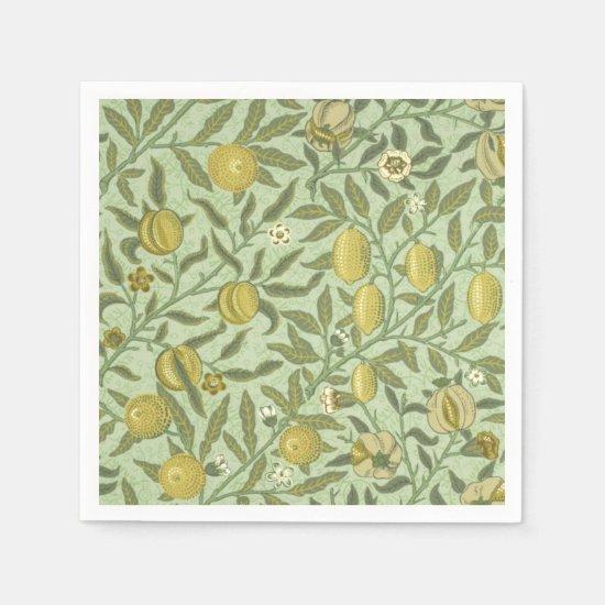 William Morris Pomegranate Fruit Design Paper Napkins