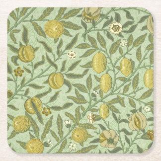 William Morris Pomegranate Fruit Design Square Paper Coaster