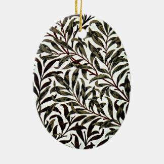 William Morris - rama del sauce Adorno Ovalado De Cerámica